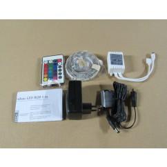 Kit ruban LED RGB  1m 30 leds double face fourni + transformateur + controleur +télécom IR